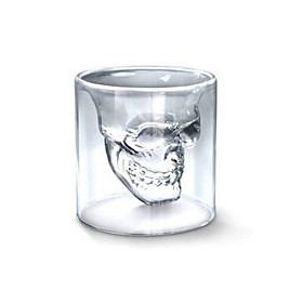 Cool Transparent Creative Scary Skull Head Design Novelty Drinkware Wine Shot Glass Cup 150ML 5146938