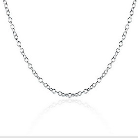 Unisex Chain Necklace / Chains - Sterling Silver Personalized, Fashion Silver Necklace Jewelry For Wedding, Party, Daily