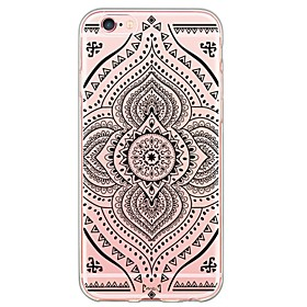 Per Custodia iPhone 6 \/ Custodia iPhone 6 Plus Ultra sottile \/ Traslucido Custodia Custodia posteriore Custodia Fiori Mandala Morbido TPU