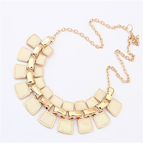 Women's Statement Necklace Statement Vintage Fashion White Black Purple Necklace Jewelry For Wedding Party Daily Casual Work