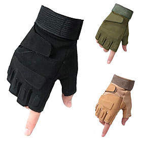 Outdoor Gloves Tactical Gloves Mountain Bike Riding Sport Semi Finger Motorcycle Gloves 5219078