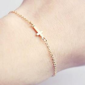 Women's Chain Bracelet Charm Bracelet - Cross, Friends Simple Style Bracelet Gold For Christmas Gifts Daily Office  Career