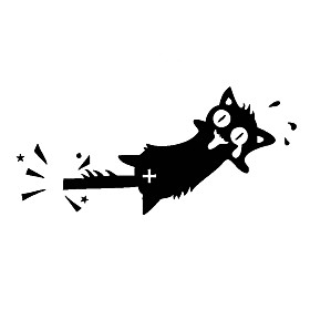 3D Wall Stickers Wall Decals Style Creative Screaming Cats PVC Wall Stickers 5158853