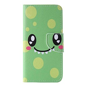 EFORCASE Green Smile Painted PU Phone Case for iphoneSE 5S 5 6 6S 6plus 6Splus 5152132