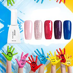Azure Nail Art 12ml Gel Polish Glitter Color Gel Soak Off UV Gel Nail Polish Long Lasting 5217820