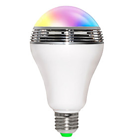 Jiaweb APP RGB LED Wireless Bluetooth Speaker Bulb Audio Speaker Music Playing  Lighting With APP E27 5146859