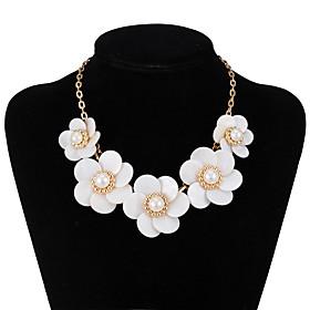 xu Women's Flower Elegant Fashion Glass Pendant Hot-style Necklace 5220460