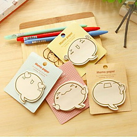Stationery Cute Cartoon Faces N Times Paste Sticky Notes Guest Article (Random Color) 5210300