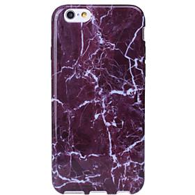 Per Custodia iPhone 6 \/ Custodia iPhone 6 Plus Other Custodia Custodia posteriore Custodia Effetto marmo Morbido TPU AppleiPhone 6s