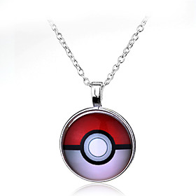 Pocket Little Monster Pokeball Pocket Little Monster Ball Halder Necklace Pendant (50cm) 5120498