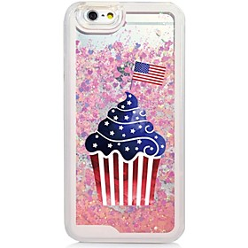 Cup Cake Back Flowing Quicksand Liquid/Printing Pattern PC Hard Case Cover For iPhone 6s Plus/6 Plus/6s/6/SE/5s/5 5155938