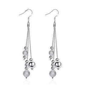 Women's Long Drop Earrings Earrings Sterling Silver Earrings Ladies Personalized Tassel Fashion Jewelry Silver For Wedding Party Daily Casual Work