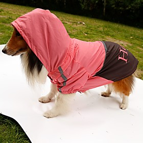 Dog Rain Coat Dog Clothes Summer Spring/Fall Letter  Number Waterproof Orange Yellow Green Pink 5188991