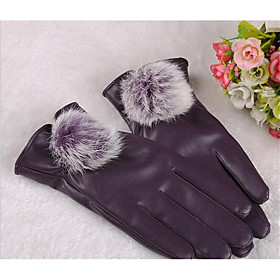 Lady Rabbit Ball Full Touch Screen Warm Winter Riding Bicycle Motorcycle Sunscreen Fitness Gloves 5214403