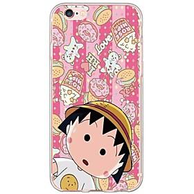 Chibi Maruko Pattern TPU Ultra-thin Translucent Soft Back Cover for Apple iPhone 6s Plus/6 Plus/ 6s/6/ SE/5s/5 5228796
