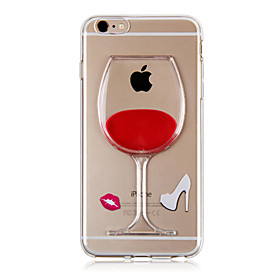 KARZEA™ Flowing Liquid Water Wine Glass Pattern TPU Back Cover Case for iPhone 6s 6 Plus 3163363