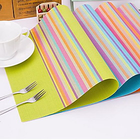 Rainbow PVC Table Mat Table Mat Cup Mat Insulation Pad 5180347