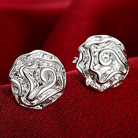 Women's Stud Earrings Earrings - Sterling Silver Roses, Flower Personalized, Fashion Silver For Wedding Party Daily