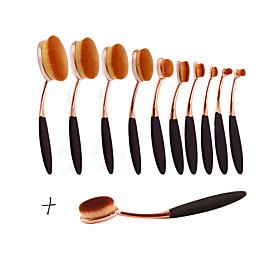 New Arrival 11pcs/set ToothBrush Shape Oval Makeup Brush Set MULTIPURPOSE Professional Foundation Powder Brush Kits 5169152