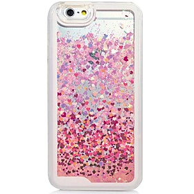 Heart Back Flowing Quicksand Liquid/Printing Pattern PC Hard Case Cover For iPhone 6s Plus/6 Plus/6s/6/SE/5s/5 5155932