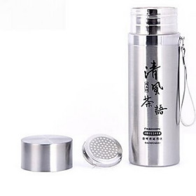 Insulation Pot Stainless Steel Office Mug Simple Portable Bilayer Cup 5172893