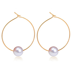 Women's Stud Earrings Hoop Earrings - Pearl Fashion Gold / Silver For Wedding Party Daily