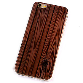 Per Custodia iPhone 6 \/ Custodia iPhone 6 Plus Other Custodia Custodia posteriore Custodia Simil-legno Morbido TPU AppleiPhone 6s Plus\/6