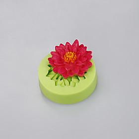 Silicone mold flowers shape fondant cake cupcake chocolate mold baking mold Color Random 5281011