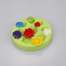 Food grade flower rose shaped silicone mini cupcakes cake muffin cookie pudding jelly baking cup 5299556