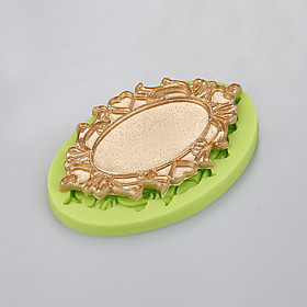 Mirror shape cake decorating silicone mold handmade soap mold kitchen bakeware Color Random 5299570