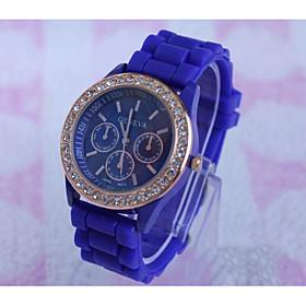 New Arrival Casual Fashion Laides Wrist Watches Geneva Quartz Women Watch silicone Jelly Band Clock Reloj Mujer 5279377
