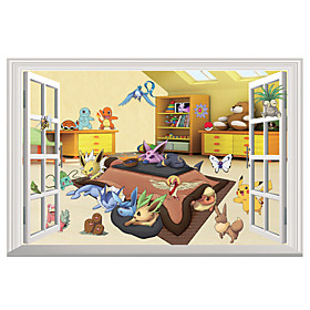 Wall Stickers Wall Decals Style Pocket Monster PVC Wall Stickers 5250797