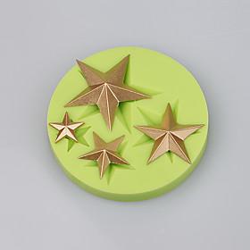 Star shape 4 cavity silicone cake mold decoration chocolate mold fondant cake tools easy baking 5299639