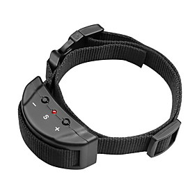Bark Collar Adjustable/Retractable Anti Bark Electronic/Electric Shock/Vibration Solid Nylon 4759097
