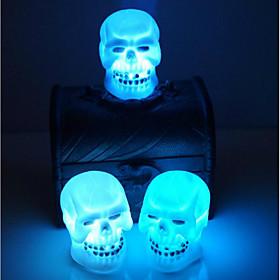 vendendo o dia das bruxas decoração suprimentos crânio noite luz cor aleatória 5282076