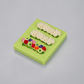 Food grade FDA silicone mold 3 cavity flowers shape for fondant cake decoration tools 5281022