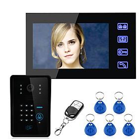 Ennio Touch Key 7 Lcd RFID Password Video Door Phone Intercom System Wth IR Camera  Access Control System