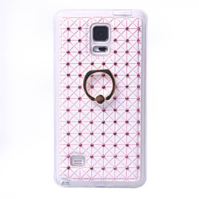 Rhinestone Ring Phone Holder PU Leather Cover For Samsung Galaxy Note 4 Note 5  Bling Diamond Silicone 5250286