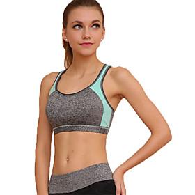 Women's Sexy Sports Bra Wireless Patchwork Underwear Fitness Running Yoga Tops 5285711