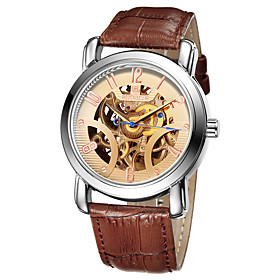 SKONE Waterproof Automatic Mechanical Watches Men TOP Luxury Genuine Leather Strap Casual Watch Skeleton Watch 5267084