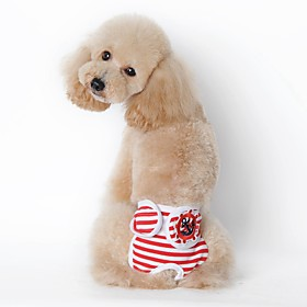 Dog Pants Dog Clothes Casual/Daily Sailor Black Red Blue Costume For Pets 5290153