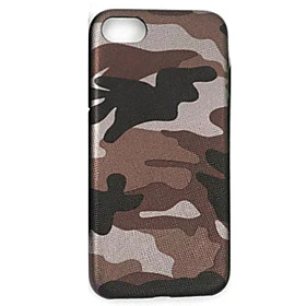 Per Ultra sottile Custodia Custodia posteriore Custodia Mimetico Morbido Similpelle AppleiPhone 7 Plus \/ iPhone 7 \/ iPhone 6s Plus\/6 Plus