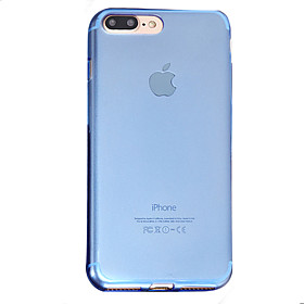 Per Traslucido Custodia Custodia posteriore Custodia Tinta unita Morbido TPU AppleiPhone 7 Plus \/ iPhone 7 \/ iPhone 6s Plus\/6 Plus \/
