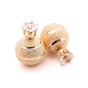 Women's Silver Plated / Gold Plated - Vintage / Cute Style / Fashion Gold / Silver Round Earrings For Party / Daily / Casual 5280887