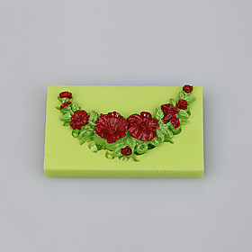 Rose peony flower shape various silicone cake mold for cup cake fondant cake candy decoration tools 5281021