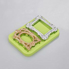 2 Cavity 3 D silicone mold  Photo frame  mould cooking cake for easy baking tool factory 5299581