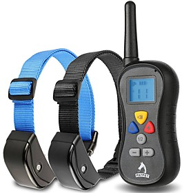 Dog Training Collar Anti Bark Collar 330 Yard Remote Shock Vibration Waterproof for 2 Dogs 4057973