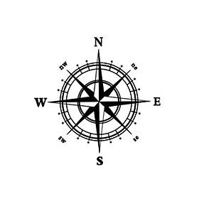Compass Wall Decal Compass Wall Sticker Home Decor 5255987