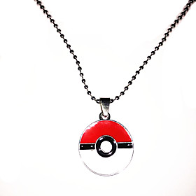 Jewelry Inspired by Pocket Monster Ash Ketchum Anime Cosplay Accessories Necklace White / Red / Silver Alloy Male / Female 5246204