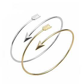 Women's Bracelet Bangles Cuff Bracelet - Heart, Love, Anchor Basic, Fashion Bracelet Silver / Golden For Party Daily Casual